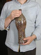 Enorme vase bouteille 1950 design scarifie vallauris era capron jouve accolay
