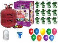 Helium Tank+50 Balloons & White Ribbon+12 Green Weights+Plus Balloon Tying Tool