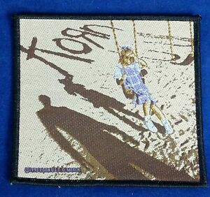 KORN 1998 Official Woven Embroidery Patch Playground Girl Swing