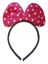 rose à pois Peluche Minnie Mouse bandeau déguisement oreilles