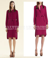 $1,800 GUCCI DRESS FUCHSIA FLUID SILK SHIRTDRESS BUTTON PLACKET IT 38 US 2
