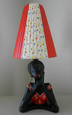 BEAUTIFUL STARBURST & RED PLASTIC RIBBON SMALL CONE SHADE for BARSONY LAMP