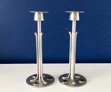 "Arts & Crafts Liberty & Co ARCHIBALD KNOX Style Pewter & Enamel 9"" Candlesticks"