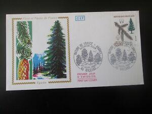enveloppe premier jour 1985 flore et faune de france epicea