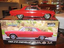 EXACT DETAIL1965 Z16 CHEVELLE MALIBU SS 1 0F 3000 1/18 SCALE RED