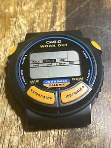 Casio JC-10 Module 879 Vintage Work Out Alarm Wrist Watch  For Parts Or Repair !