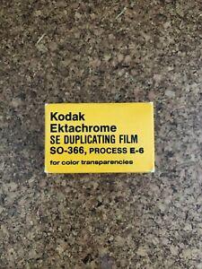 VERY RARE 1x Kodak Ektachrome S0-366 35mm 36 Exposure Expired Slide Professional