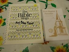 2 SONGBOOKS BIBLE SINGS PAUL MERIDA ERICKSON FIRST BAPTIST FAVORITES EAU CLAIRE
