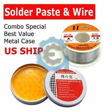 60-40 Tin Lead Rosin Core Solder Wire Sn60 Pb40 Flux 1.0mm & Soldering Paste