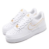 Nike Wmns Air Force 1 07 ESS AF1 White Gold Women Shoes Sneakers AO2132-102