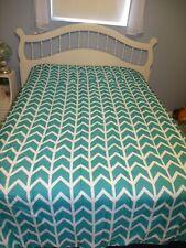 Queen Reversible Comforter Bed Skirt 2 Pillow Shams Set & 4 Curtain Panels