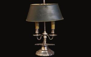 lampe bouillotte argentée / silvered light 19th century