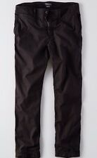 AMERICAN EAGLE OUTFITTERS Mens RELAXED STRAIGHT Black KHAKI PANTS SIZE 40x32 NWT
