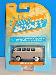 Majorette JADA Punch Buggy Slug Bug Volkswagen T1 Bus Gray & Cream