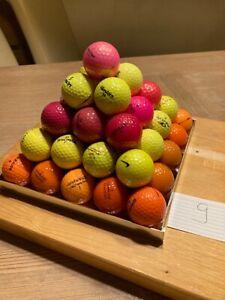 Golfbälle bunt 55 Stück Mischung, keine Lakeballs