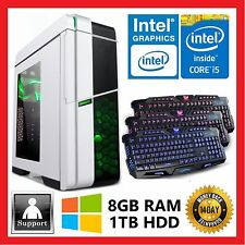 Intel 7th Gen Quad Core i5 7400 3.5GHz | 8GB DDR4 | 1TB HDD Computer Desktop PC