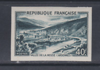 FRANCE NON DENTELE  N* YT 842A N** TB VALLEE DE LA MEUSE IMPERFORATE