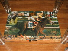 RARE MONARCHOS 2001 KENTUCKY DERBY HORSE RACING ORIGINAL POSTER TONY LEONARD