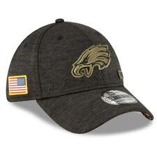Мужская футболка Philadelphia Eagles новой эры черный 2020 Салют на обслуживание 39 тридцати гибкая шапка