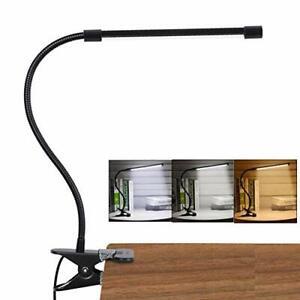 LED Lampe De Bureau à Pince, USB Alimenté Flexible Lampe De Lecture à Pince Plia