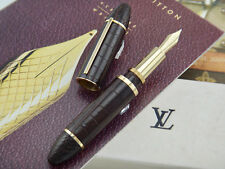 LOUIS VUITTON Cargo Alligator Leather Exotic Brown and Gold Plated Fountain Pen
