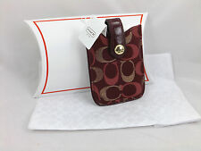 Coach New Signature Small Electronics iPod Phone Case Holder F61216 $58 Red Gold