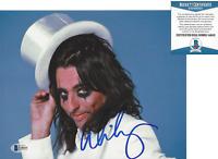 SINGER ALICE COOPER SIGNED 8x10 PHOTO SHOCK ROCK LEGEND 8 PROOF BECKETT COA BAS