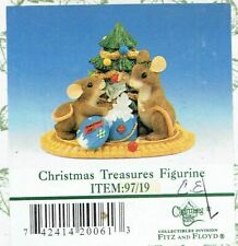 """Fitz & Floyd Charming Tails """"Christmas Treasures"""" Figurine - Mint in Box"""