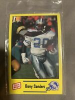 1991 Oscar Mayer Detroit Lions Police Football NFL Card Set with Barry Sanders
