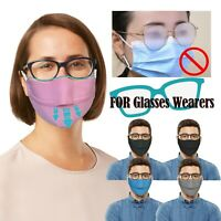 Face Mask Protective Mouth Covering Breathable Prevent Fogging Reusable Masks UK