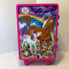 Vintage Lisa Frank Rainbow Chaser Horses Pink Suitcase Rolling Luggage Storage