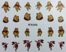 Nail Art 3D Decal Stickers Disney's Winnie the Pooh Tiger Piglet Pooh Bear K098