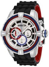 Invicta Men's 50mm Bolt Quartz Chronograph Silicone Strap Watch Black 29077