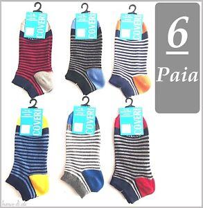 modello estivo fantasmino altezza caviglia 12 paia calze calzini corti bimbo bambino cotone colorati fluo