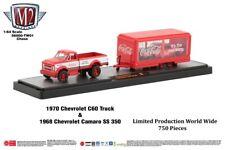 """Chase 1970 CHEVROLET C60 & 1968 CAMARO """"COCA-COLA"""" SET 1/64 M2 56000-TW01-CHEVY"""