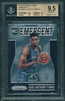 """2015-16 Panini KARL-ANTHONY TOWNS  """"Emergent"""" ROOKIE RC BGS 9.5 Quad 9.5 [BBE]"""