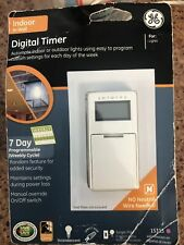 Indoor In-wall Digital Timer For Lights Ge brand