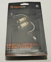 Blackweb Digital Optical Audio Cable With Mini Adapters - Supports 5.1 Channels