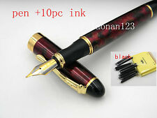 NEW FINE Red ice Medium Nib FOUNTAIN PEN JINHAO X450