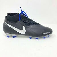 Nike Phantom VSN Black Blue AO3262-400 Soccer Cleats Mens Size 10