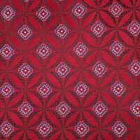 ERMENEGILDO ZEGNA Mens Red Brown Blue GEOMETRIC Woven Silk Tie Italy NWT
