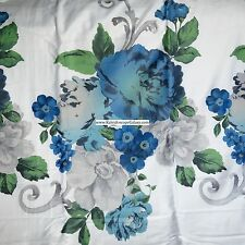 SHABBY CHIC COTTAGE FLORAL 3pc KING DUVET COVER BLUE GREEN VINTAGE FRENCH COUNTR