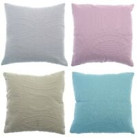 Luxury Twin Pack Embossed Quilted Cushion Covers 43 cm x 43 cm - Pack of 2