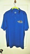 Copart Men's Racing Polo Shirt L Dark Blue/White Copart Logo Left Chest-NICE!