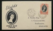 1953 Turks & Caicos Island First Day Cover QE2 Queen Elizabeth coronation To UK