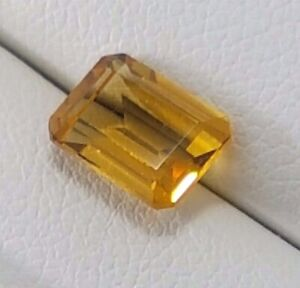 1.53 ct CITRINE emerald cut loose stone_8mm x 6.2mm