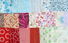 40 Colourful Bundle Craft Material Sewing Patchwork Quilting Squares Remnants 4""