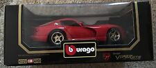 """1997  Dodge Viper GTS Coupe Red 1/18"""" Scale COD.3075 by Burago (JVE:207)"""