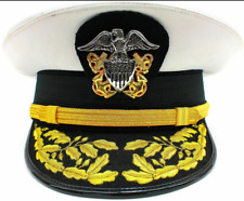 US NAVY OFFICERS ADMIRAL VISOR CAP HAT
