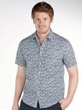 Geblümte Kurzarm Herren-Freizeithemden aus Baumwolle